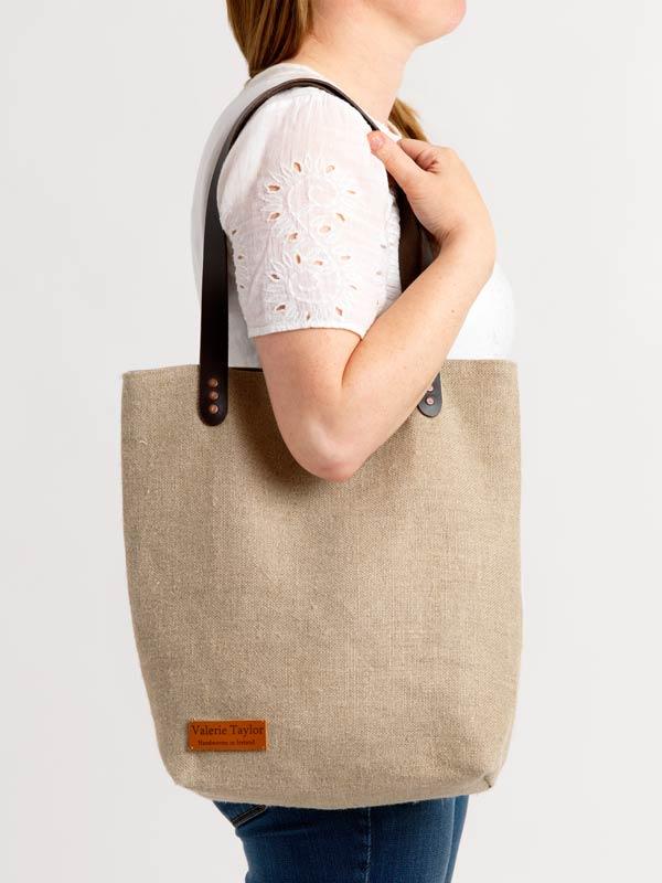 Irish Linen Aoibh Cream shopping bag